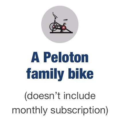 A Peloton family bike