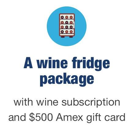 A wine fridge package
