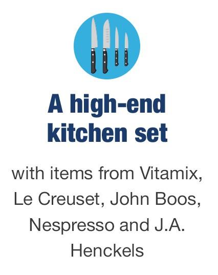 A high-end kitchen set