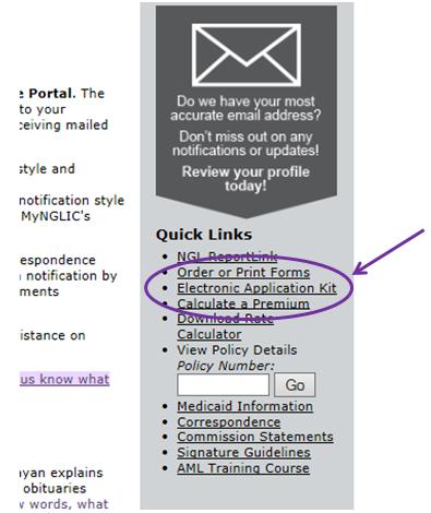 NGL-Electronic-Application-Site-Screenshot